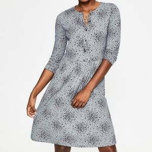 Boden Petite Gray Marl Floral Briar Dress